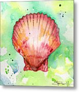 Red Shell Metal Print