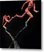 Red Shift A Science Sculpture By Adam Long Metal Print by Adam Long