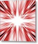Red Silk Star Metal Print