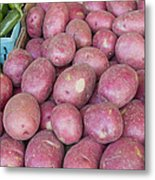 Red Skin Potatoes Stall Display Metal Print