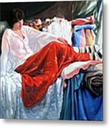 Red Skirt Metal Print by Kevin Lawrence Leveque