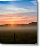Red Sky At Morning Sailor Take Warning Metal Print by Paul Herrmann