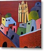 Red Sky In San Miguelle De Allende Metal Print