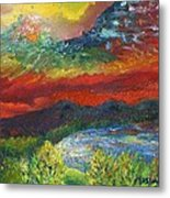 Red Sky In The Morning Metal Print
