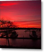 Red Sky In The Morning Two Metal Print