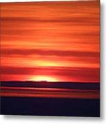 Red Sky Morning Metal Print