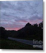 Red Sky Road Metal Print