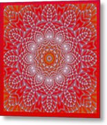 Red Space Flower Metal Print