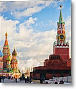 Red Square Of Moscow - Featured 3 Metal Print
