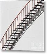 Red Steps On Tank 2 Metal Print