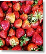 Red Strawberries Metal Print