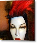 Red Streak Metal Print