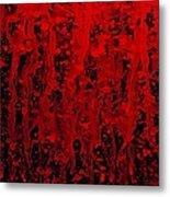 Red Streaks Metal Print
