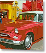 Red Studebaker Metal Print