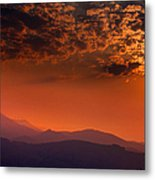 Red Sumer Sunset Metal Print