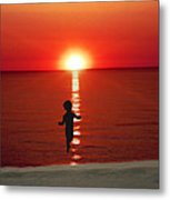 Red Sunrise Metal Print