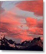Red Sunset At Torres Del Paine Metal Print by Arie Arik Chen