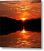 Red Sunset Metal Print by Jose Lopez