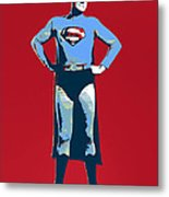 Red Superman Metal Print