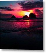 Red Surf Metal Print