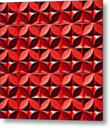 Red Textured Wall Metal Print