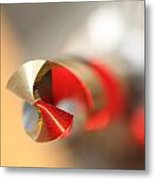 Red Three Quarter Metal Print