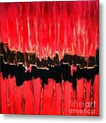 Red Thunder Clash II Metal Print