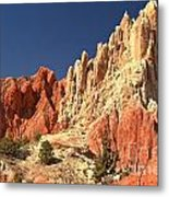 Red To White To Blue Metal Print