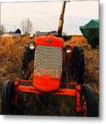 Red Tractor 2 Metal Print