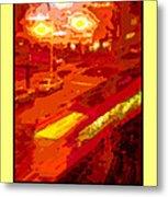 Red Trolley Portland Metal Print