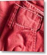 Red Trousers Metal Print