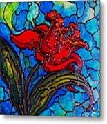 Red Tulip Metal Print