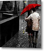 Red Umbrella 2 Metal Print