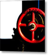 Red Valve  Metal Print by Bob Orsillo