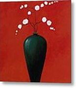 Red Vase 1 Metal Print
