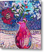Red Vase IIi Metal Print