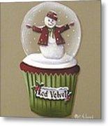Red Velvet Cupcake Metal Print