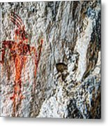 Red Warrior Metal Print