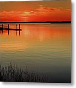 Red Water Metal Print