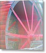 Red Wheel Metal Print