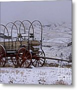 Red-wheeled Wagon   #0662 Metal Print
