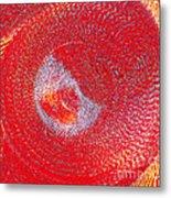 Red Whirlpool Metal Print
