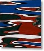 Red White And Blue I Metal Print