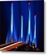 Indian River Inlet Bridge As Seen North Of Bethany Beach In This Award Winning Perspective Photo Metal Print