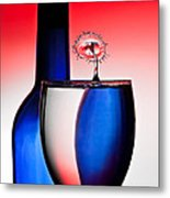 Red White And Blue Reflections And Refractions Metal Print