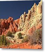 Red White And Blue Sky Metal Print