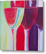 Red White And Blush Metal Print