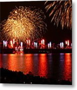 Red  White Boom Metal Print