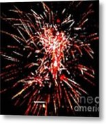 Red White Metal Print