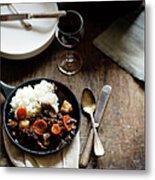 Red Wine Braised Beef Metal Print